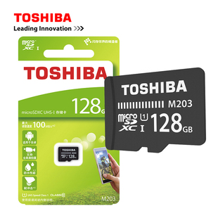 Original TOSHIBA M203 Micro SD Card UHS-I 16GB 32GB MicroSDHC 64GB 128GB MicroSDXC Flash Memory Card U1 Class10 FullHD TF Card
