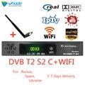 DVB T2 S2 DVB C 3 в 1 комбинированный hd цифровой наземный спутниковый ресивер поддержка AC3 Cccam Youtube IPTV Biss телеприставки с wifi