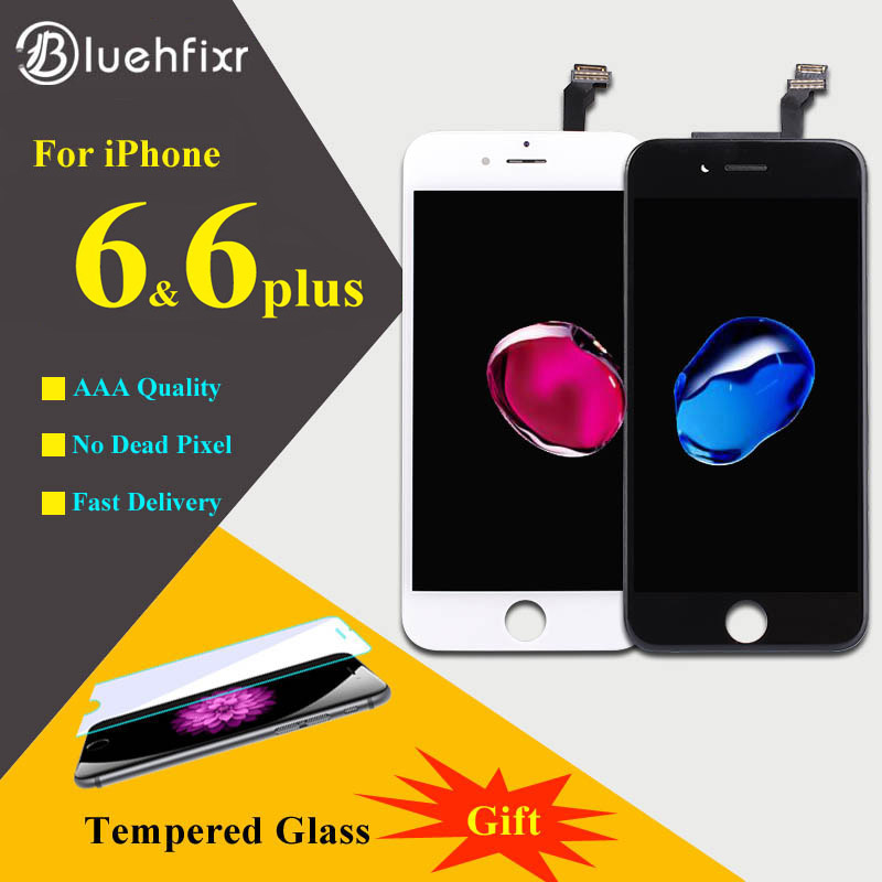 Bluehfixr AAAAA для iPhone 6 6 плюс ЖК-дисплей Дисплей Сенсорный экран планшета Ассамблеи телефон Запчасти для авто для iPhone 6s плюс ЖК-дисплей