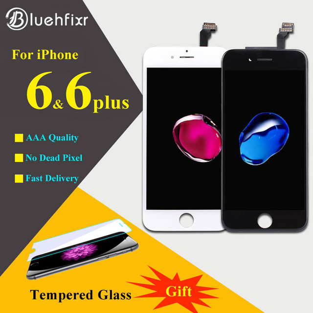 Bluehfixr AAAAA For iPhone 6 6Plus LCD Display Touch Screen Digitizer Assembly Phone Replacement Parts LCD For iPhone 6 Plus LCD
