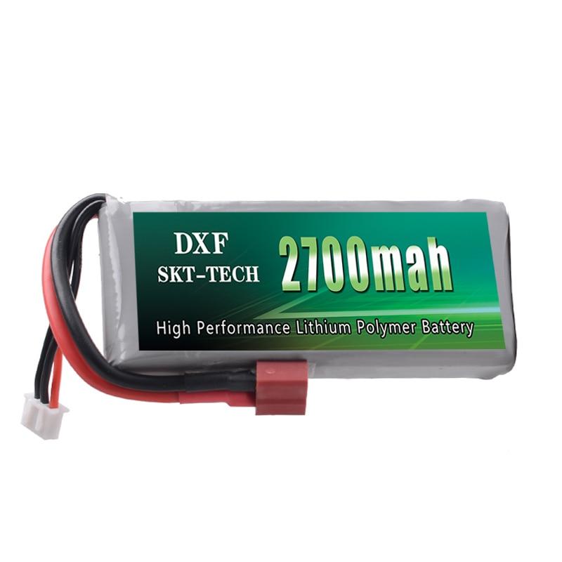 DXF Shitje e nxehtë Rc Lipo Battery 2S 7.4V 2700mah 20C Max 30C për Wltoys 12428 12423 1:12 RC Pjesë rezerve të makinave