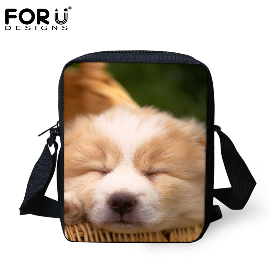 FORUDESIGNS/женская маленькая сумка через плечо с объемным рисунком собаки чихуахуа, модные женские сумки-мессенджеры, сумки через плечо - Цвет: H001E