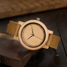 BOBO BIRD Lovers' Watches Relogio Leather Band Handmade Quartz