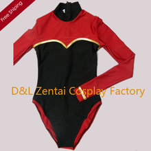 Free Shipping DHL Sexy Adult Lycra Spandex Bodysuit One-Piece Swimsuit Leotard Suits in Black and Red Plus Size