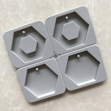 Aromatic Concrete Pendant Mould Silicone Plaster Mold for Hand Made Gypsum Tablets Making