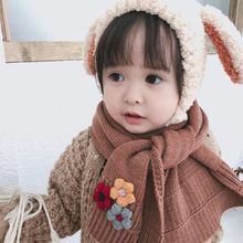 Children Scarf For Winter Scarf Kids Baby Scarf Flowers Knitted Neck Bufandas High Quality Boys Girls Neck Warmer Drop Shipping(China)