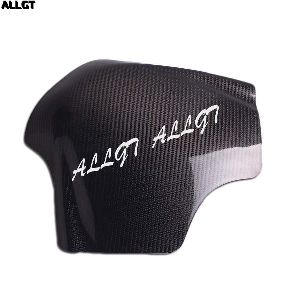 ALLGT New Carbon Fiber Fuel Gas Tank Cover Protector For Yamaha YZF R6 2008-2012 2013 2014 2015 yandex w205 amg style carbon fiber rear spoiler for benz w205 c200 c250 c300 c350 4door 2015 2016 2017