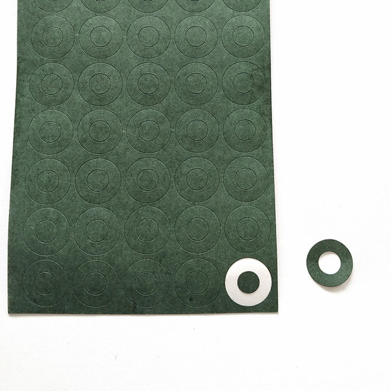 1 Hollow 18650 Insulation Gasket Battery Barley Paper Green Battery Pack Special Insulation Paper Rubber Patch