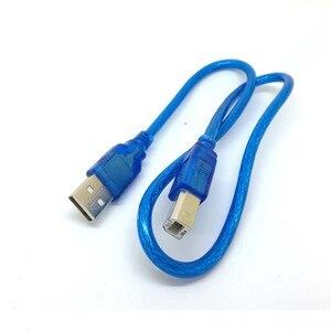 Image 5 - 1.5FT 50 سنتيمتر الأزرق قصيرة جديدة USB عالية السرعة 2.0 ألف إلى B الذكور كابل لكانون الأخ سامسونج Hp إبسون طابعة الحبل