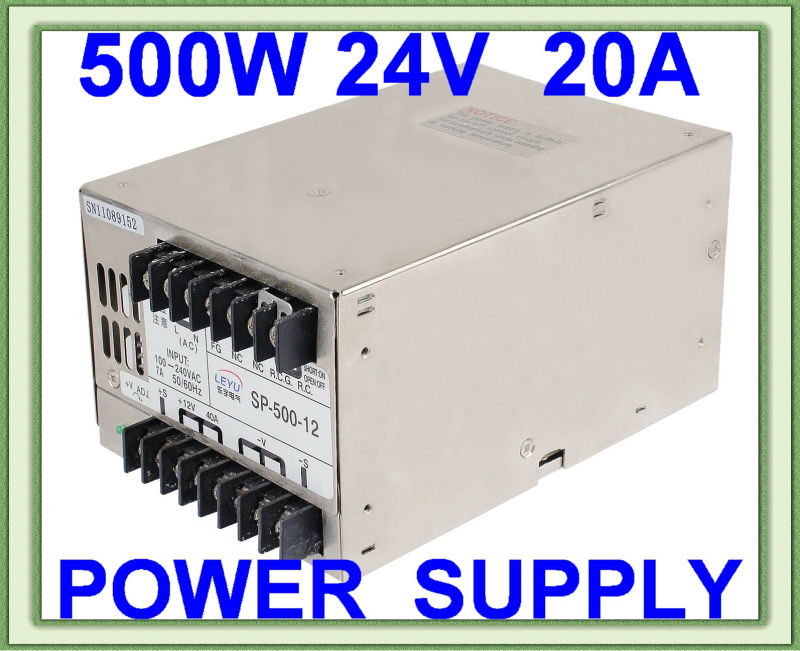 15v ac dc sp 75 15 single output with pfc function input fully range switching power supply High frequency SP-500-24V AC DC single output PFC function switching power supply for LED lighting