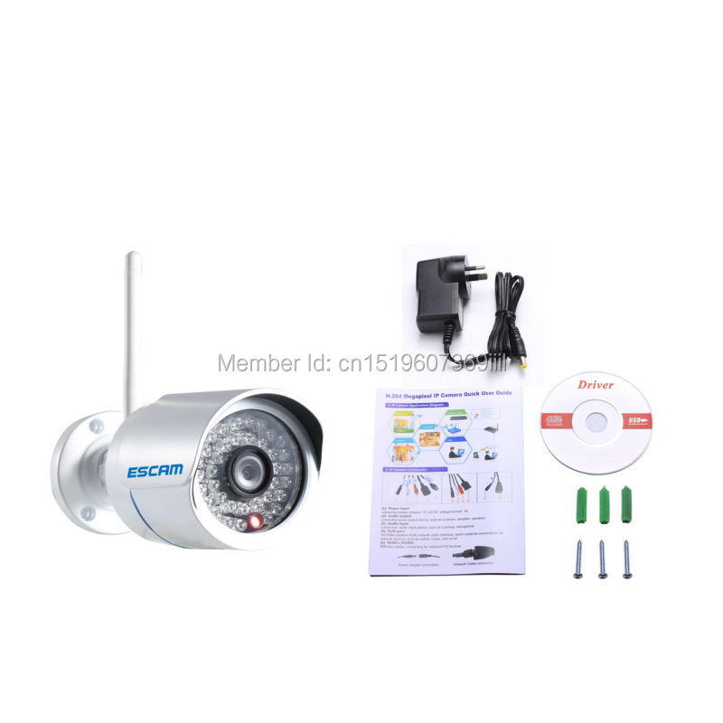 ФОТО NEW ESCAM Q6320WIFI ONVIF H.264 1 Mega 720P HD WIFI Mini Waterproof IR Bullet IP Camera P2P PNP support smart phone view
