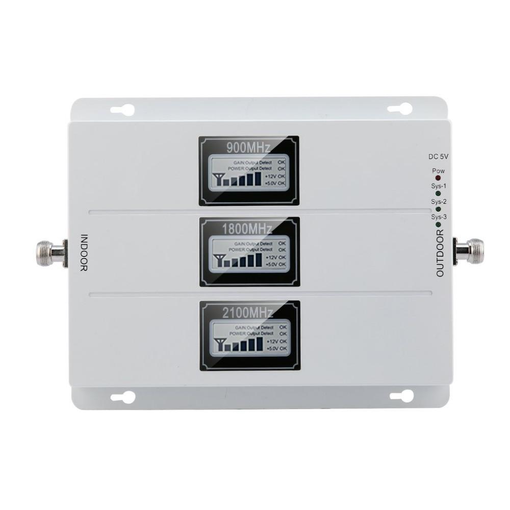 Amplificateur de Signal de répéteur extérieur externe GSM 900 MHZ 1800 MHZ 2100 MHZ amplificateur de Signal de téléphone Portable de taille Portable