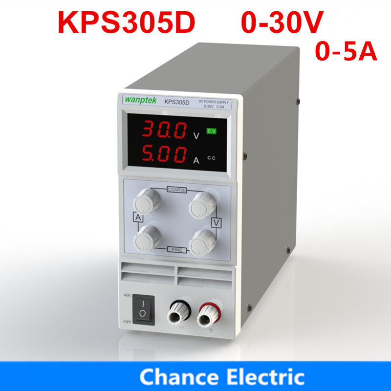 Régulateurs de tension KPS305D 30 v 5A 0.1 v 0.01A Affichage Numérique réglable Mini Commutateur de laboratoire DC Alimentation
