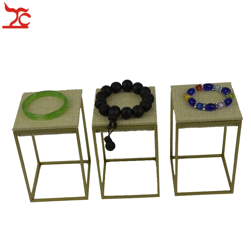 3 Pcs/Lot  PVD Plated Stainless Steel Jewelry Display Stand Rack Bracelet Riser 9X9X14CM3 Pcs/Lot  PVD Plated Stainless Steel Jewelry Display Stand Rack Bracelet Riser 9X9X14CM