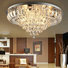 D80cm Modern LED Round Crystal Ceiling Lights Fixture Home Lighting Lustres Foyer Dining Room Bedroom Ceiling Lamp Free Shipping white glass ceiling lamp modern design frosted glass shade light home collection lighting bedroom foyer doorway cloud lights