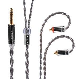 Image 3 - Yinyoo 4 núcleo 7n único cabo de cobre cristal 2.5/3.5/4.4mm occ prata chapeado cabo com conector mmcx para a lata as10 t2 t3 c16