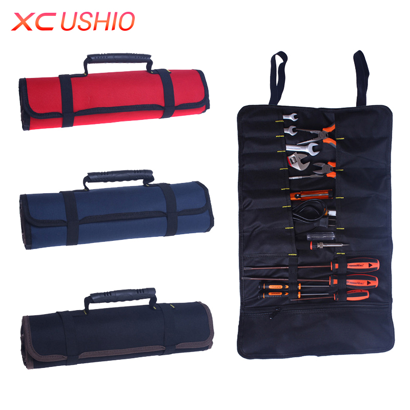 Bärbar Multifunktionell Oxford Rolling Tool Bag Hårdvara Reparations Tool Set Väska med Handle Elektrisk Tool Bag Snabb frakt