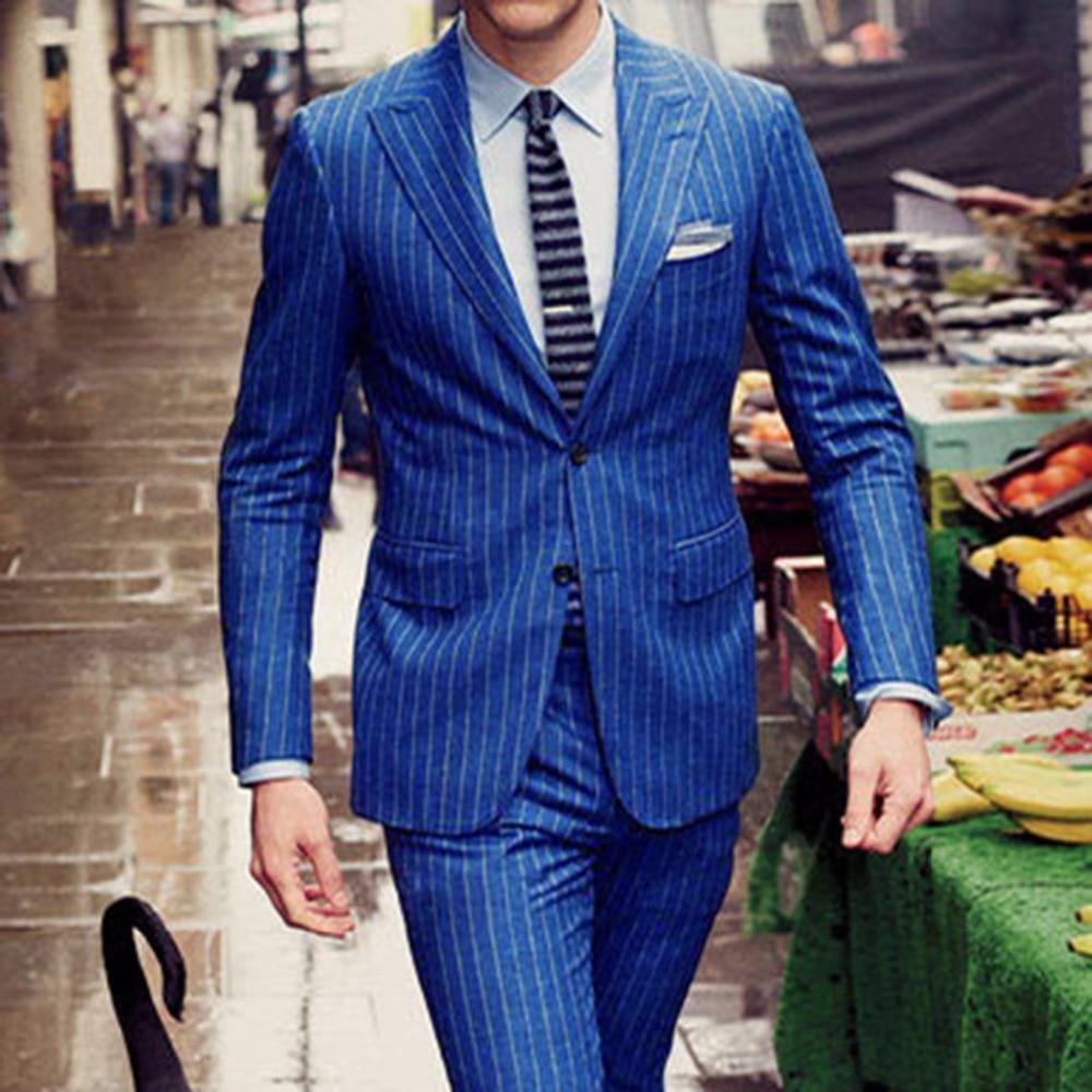 blue strip suit