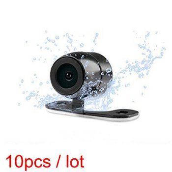 10 pcs Car Rear View Reverse Parking Camera HD Color Waterproof Vehicle Car Backup Camera Mirrored Image Grid Lines RCA 6M Free