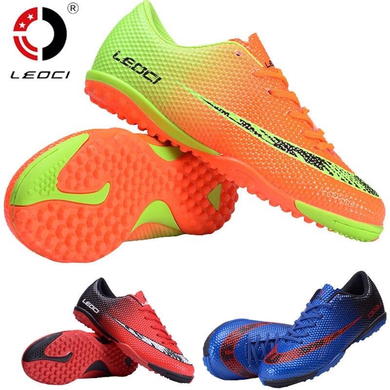 LEOCI Fußball Fußball Schuhe Unisex Fußball Stiefel indoor fußball schuh für erwachsene kinder 33-44 größe Zug Turnschuhe chuteiras