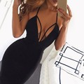 Vestidos 2016 Summer Sexy Women Dress Deep V Halter Sleeveless Backless Bandage Bodycon Evening Party Dress Sexy Vestidos
