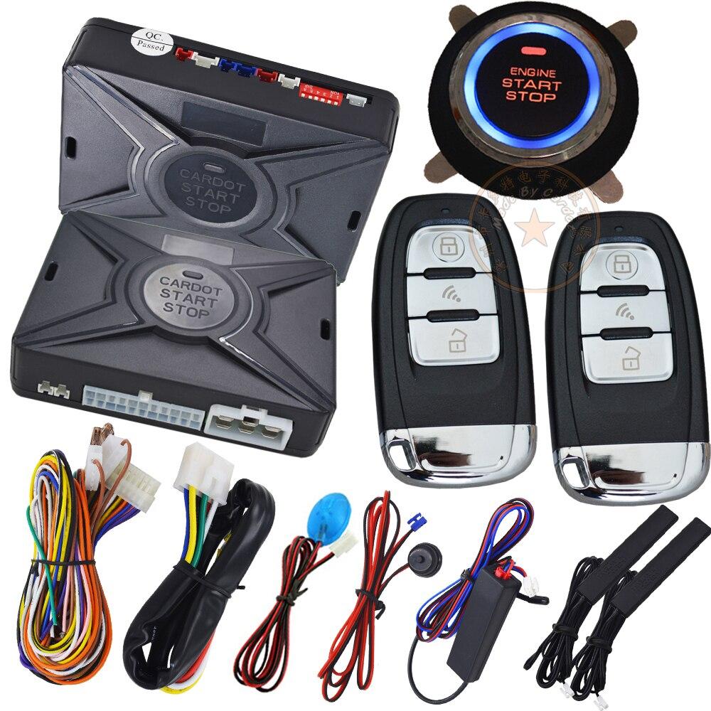 imágenes para Inteligente sistema de seguridad del coche keyless pasivo entrada auto bloquear o desbloquear la puerta de coche pulsador de arranque y parada