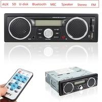 12V Handsfree LCD Car Radio Bluetooth Stereo Audio In Dash FM Receiver Aux Input ReceiverUSB AUX