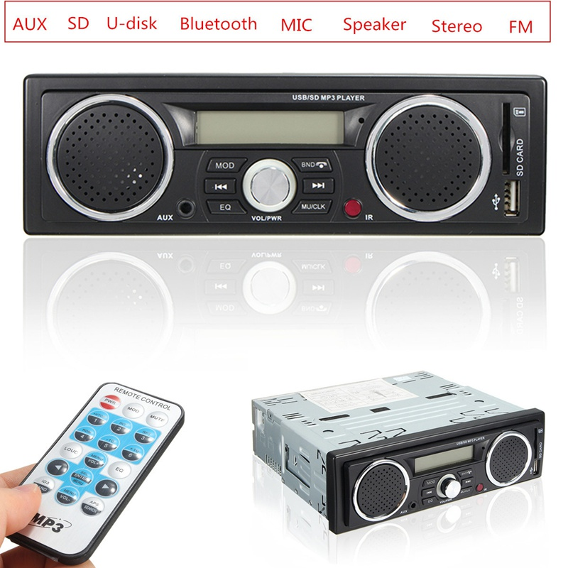 12V Handsfree LCD Car Radio Bluetooth Stereo Audio In-dash FM Receiver Aux Input ReceiverUSB/AUX Audio MP3 Player tivdio v 116 fm mw sw dsp shortwave transistor radio receiver multiband mp3 player sleep timer alarm clock f9206a