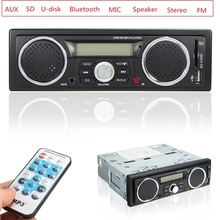 12V Handsfree LCD Car Radio Bluetooth Stereo Audio In-dash FM Receiver Aux Input ReceiverUSB/AUX Audio MP3  Player