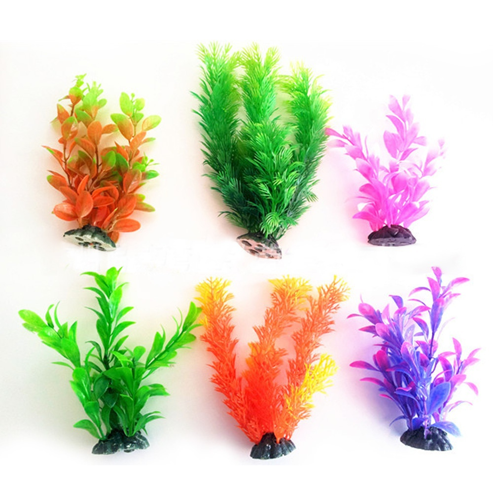 Freshwater fish aquarium accessories - Fashion 6pcs Aquarium Accessories Decoration Silicone Flowers Artificial Plant Fish Tank Grass Flower Ornament Landscape Decor In Decorations From Home