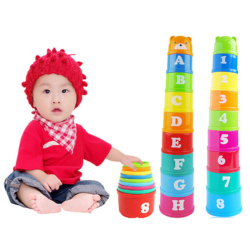 Baby Stack Cups Stacking Toys For Kids Recognize Letter Number Educational Learning Puzzle Stacked Blocks Game Montessori Toys