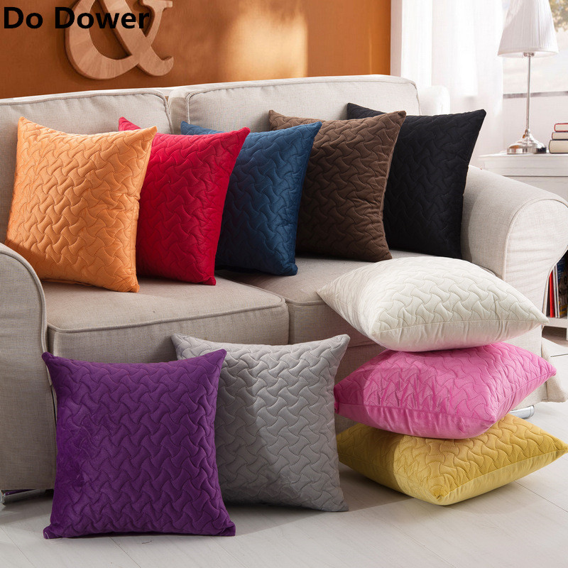 Sofa Pillows Contemporary: 2018 New Simple Modern Plush Quilted Cotton Pillow Case