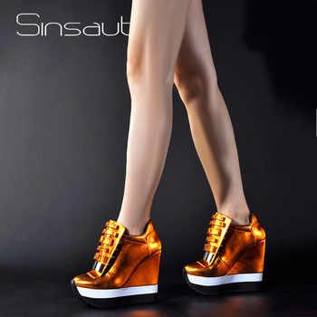 Sinsaut Shoes Women Height Increase Pumps Women Autumn Winter Shoes High Heels Trending Color Unique Design Sneakers - DISCOUNT ITEM  50% OFF All Category