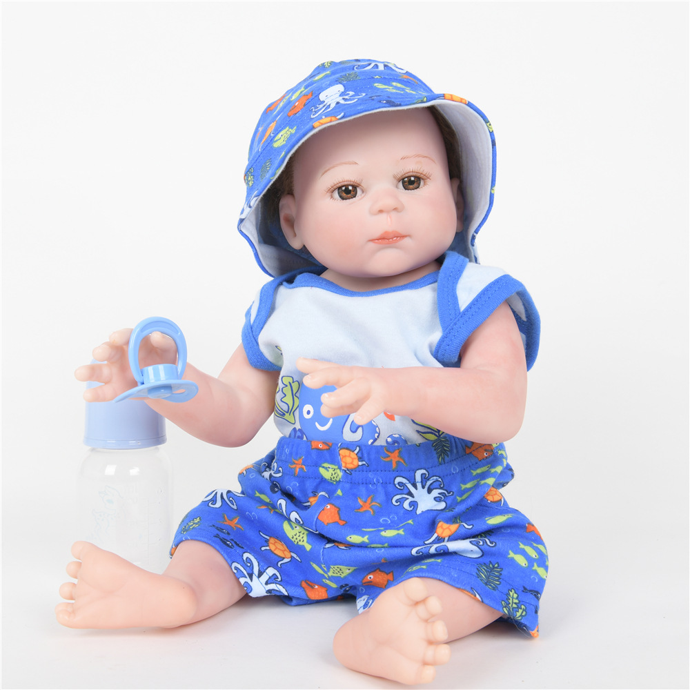 все цены на 50cm Realistic Newborn Baby Soft Full Silicone Lovely Reborn Doll Toy for Kids Birthday Christmas Gift