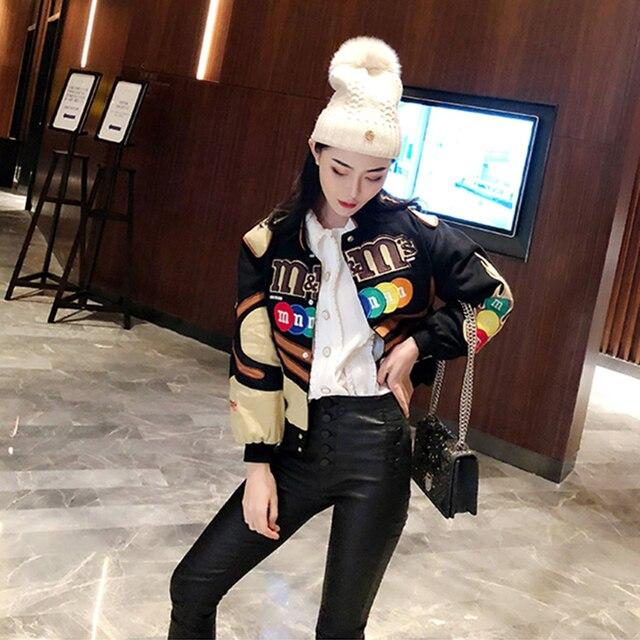 Embroidery Harajuku Patch Plus Size Coat 2021 Spring Autumn Women's Jackets Hip Hop Autumn Long Sleeve Female Jacket Outwear 2
