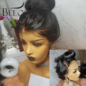 Image 3 - Beeos onda do corpo 360 laço frontal peruca brasileira remy perucas de cabelo humano 180% com o cabelo do bebê para as mulheres pré arrancadas nós descorados