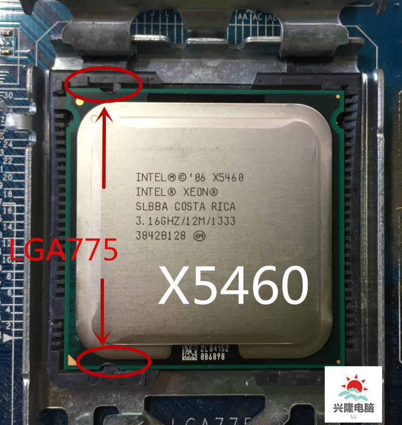 Intel socket 775 Xeon X5460 x5460 Quad-Core 3.16GHz 12MB 1333MHz עובד על LGA 775 mainboard title=