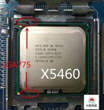 Intel soquete 775 xeon x5460 x5460, quad core 3.16ghz 12mb 1333mhz funciona em lga 775 mainboard