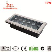 Manufacturer garden square fountain LED Underground Lamp 16w IP67 Stainless steel Square LED underground light