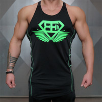 2018 New Gyms Clothing Bodybuilding Hip Hop Style Leisure Vest Fitness Brand Cotton Men Casual Tank