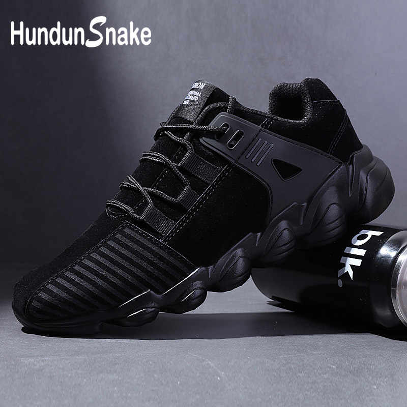 Hundunsnake Leather Mens Sneakers Men Sport Shoes Men Running Shoes Sports Male Basket Shoes Athletic Tennis Chaussure Homme G-6