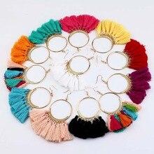 Boho Statement Tassel Earrings For women vintage Big Round Drop Dangle Earrings Bridal Wedding Party Fringed 2019 Jewelry Gift