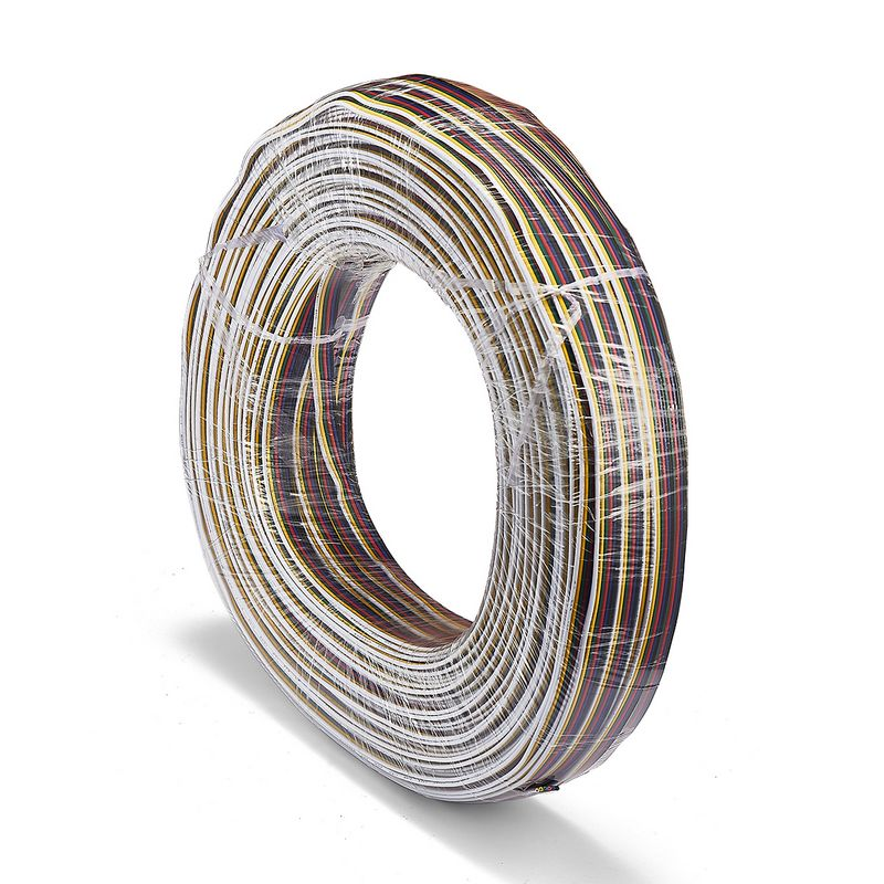 3roll <font><b>6</b></font> Pin <font><b>Core</b></font> Power Extension Cable Electrical <font><b>Wire</b></font> 100m 22AWG For RGB CCT LED Strip Controller image