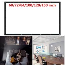 Projector Screen Projection Curtain Foldable 150 inch 170 Degrees View Angle Polyester 16:10 Conferences Wedding Home Cinema
