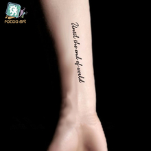 Water Transfer Temporary Tattoo Stickers Men And Women Sexy Arm Shoulder Personalized Letter Designs Tattoos Sticker Decals