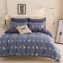 JU Home Textiles 100%Cotton Simple Bohemian Style 3/4pcs Bedding Sets Bed Linen Include Duvet Cover Bed Sheet Pillowcase(China)