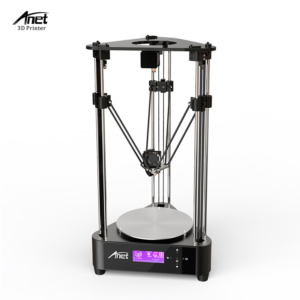 Anet A4 Delta 3D Printer 3D DIY Printer Kit Printing Size 200 210mm Machine Box Easy