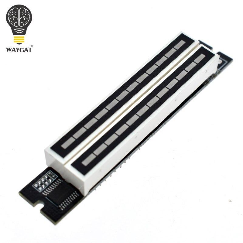 WAVGAT Mini Dual 12 Nivel indicador VU Meter amplificador estéreo ajustable de la velocidad de la luz con AGC modo KITS Diy