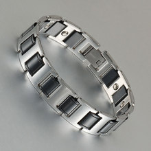 Wollet Jewelry Stainless Steel Black Ceramic Magnetic Bracelet Bangle For Men Health Care Healing Energy Hematite Magnet Ion цена