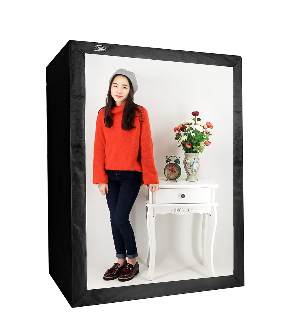 bilder für TIEFE LED Professionelle Portable Softbox Box 120*80*160 cm LED Foto Studio Video Beleuchtung Zelt mit LED licht